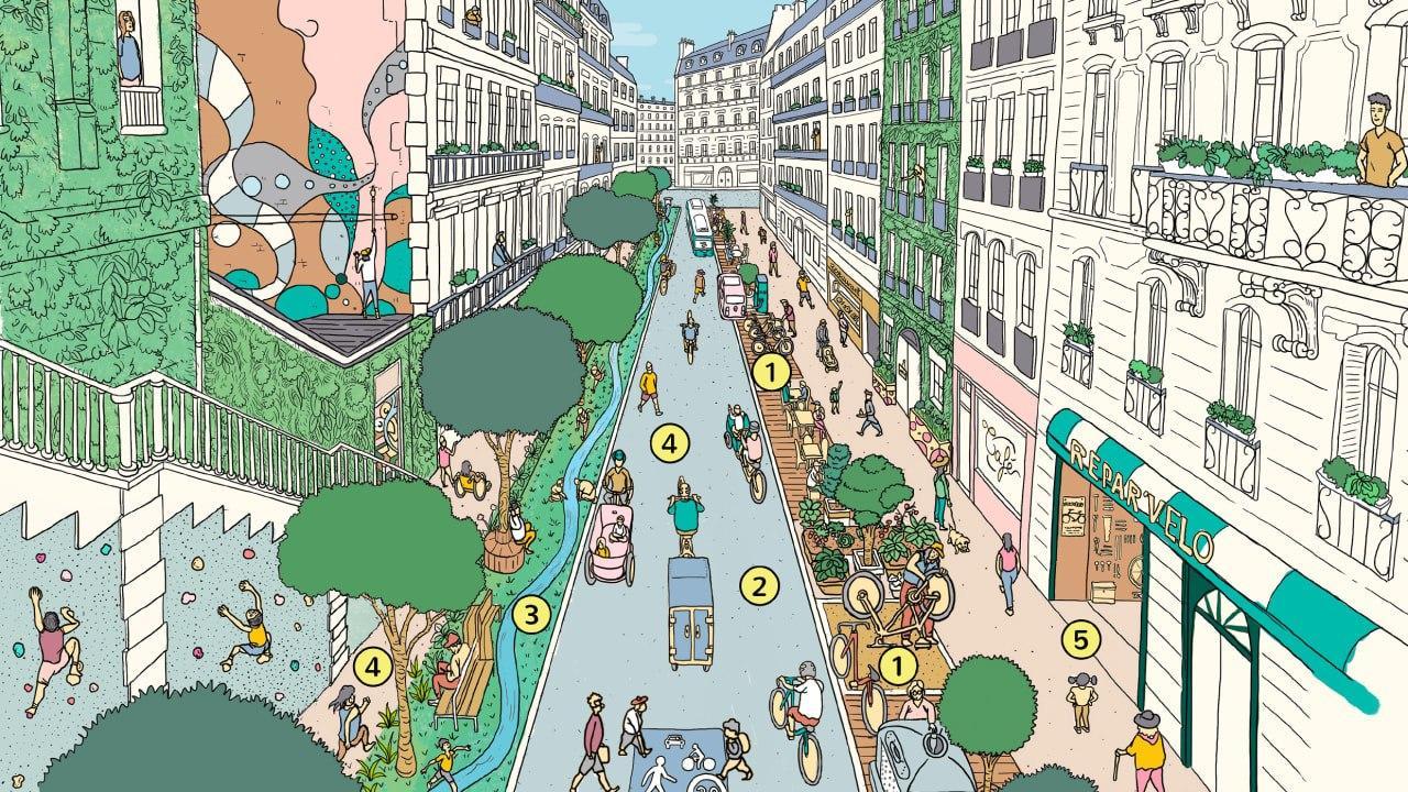 Мэр Парижа предложил идею «15-ти минутного города»