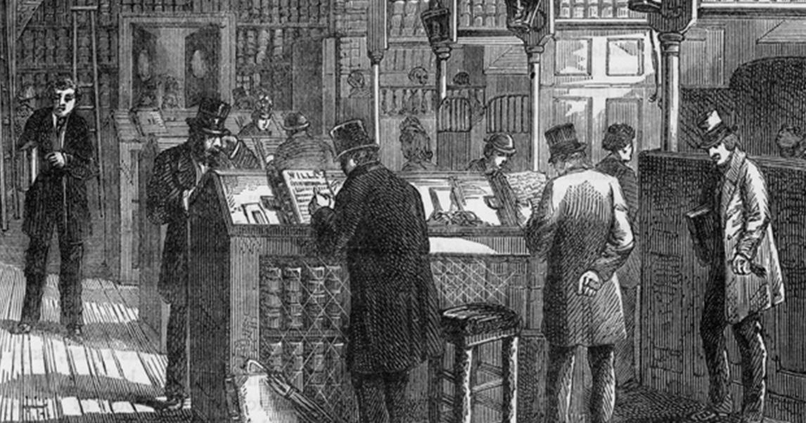 Использование столов для работы стоя — конторок на рубеже 18-19 веков