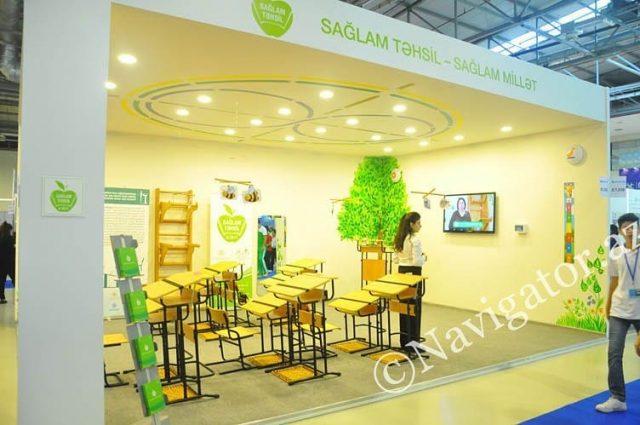 Стенд государственной программы «Здоровое образование», основанной на здоровьесберегающих технологиях Базарного, на 12-й азербайджанской международной образовательной выставке.  #УчимсяСтоя